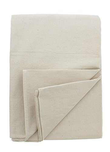 ABN Painters Cotton Canvas Paint Drop Cloth, Large 4 x 15ft 10pk - Protective White Tarp for Painting, Auto, Furniture (Canvas Drop Cloth 15)