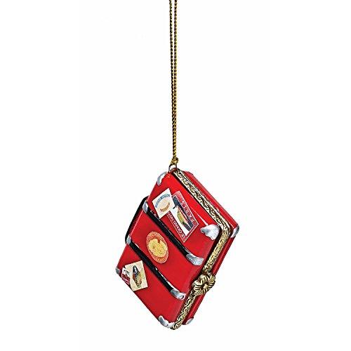 - Bandwagon Christmas Decoration - Porcelain Surprise Ornaments Box - Vintage Suitcase
