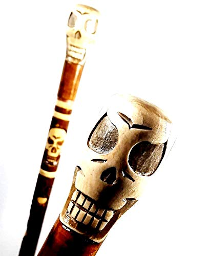 oleksandr.victory SKULL Cane Walking Stick Wooden Handmade Men's Accessories by oleksandr.victory