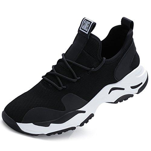 CAMEL CROWN ランニングシューズ メンズ スニーカー メッシュ 軽量 ジョギングシューズ 運動靴 通気 靴 スポーツ 全2色 白 黒