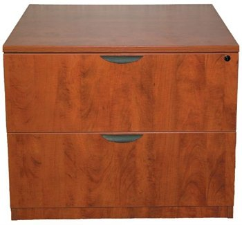 "Marquis 36"" Two Drawer Lateral File 35 1/4""W X 22""D X 29""H Features 3Mm Edge Banding & Thermal-Fused Laminate - Cherry"