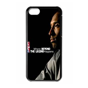 The NBA star Kobe Bryant for Apple iPhone 5C Black Case Hardcore-7
