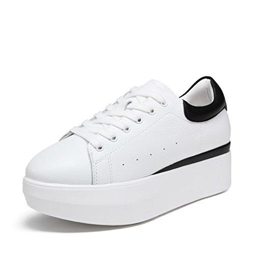 Zapatos ocasionales de las mujeres/ blanco grueso zapato/Zapatos de aumento de altura/Zapatos del deporte A