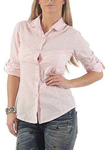 Malito Casual Lounges 8030 Casual Look Chemise Boutons Femme Tunique Classique Top Elgante Rose Manches Blouse rrqPA