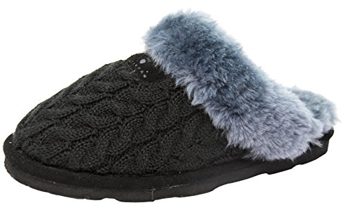 Black Grey Slipper BEARPAW Effie Slide Women's qwIHf1Y