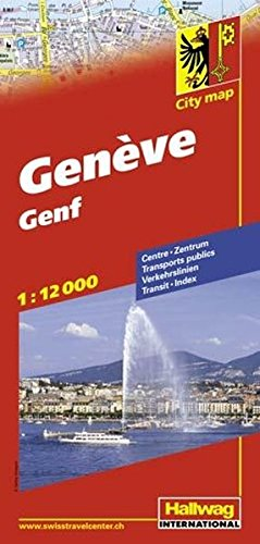 Genf / Geneva City Map...