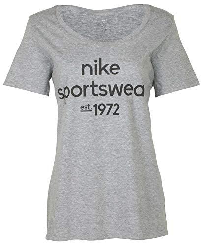 Nike Women's Sportswear 1972 Graphic Tee-Heather Grey-Large