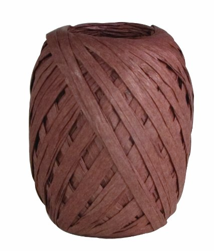 The Gift Wrap Company Raffia Egg, Chocolate Brown - Brown Raffia