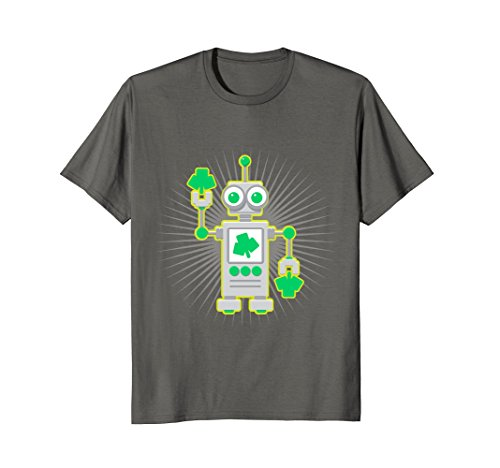 Kids St. Patrick's Day Shirt, Cute Shamrock Robot Gift