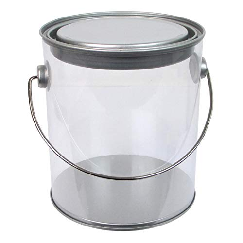 5qt Pail with Lid & Handle Mini the All-Metal Handle Has an Attached Plastic Molded Grip That Protects Hands from Heavy Loads. Lipped Lids Make Stacking Safe and Easy for a Solid Food Grade Container