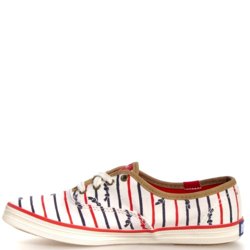Keds Women's Taylor Swift Bow Stripe Champion Sneaker Cream 8.5 M US