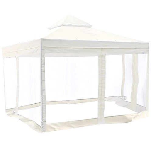 10x10' Gazebo Top Canopy Replacement Patio Pavilion Sunshade Cover Mosquito Net by Generic