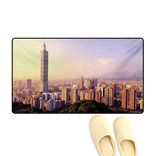 Door-mat,Evening Skyline Taipei Taiwan Cityscape Modern for sale  Delivered anywhere in Canada