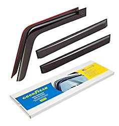 Goodyear Side Window Deflectors For Jeep Wrangler 2007 2018 Tape On Rain Guards Window Visors 4 Pieces Gy003142
