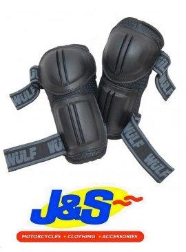 WULFSPORT CUB KIDS MOTORBIKE MOTO X CROSS ELBOW PROTECTORS BLACK J&S