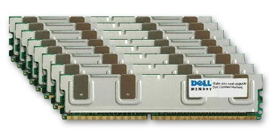 Dell Certified 64GB Kit (8 x 8GB) DDR2-667 PC2-5300 240 Pin Fully Buffered RAM Upgrade for Dell POWEREDGE 1950 2950 ()
