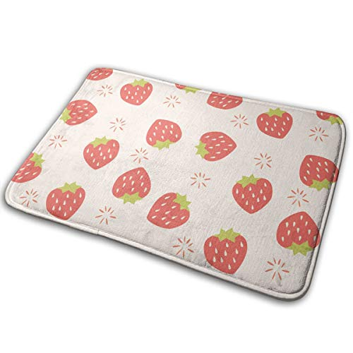 Red Watermelon Seamless Pattern Non Slip Flannel Rug Warm Carpet Bath Door Mat