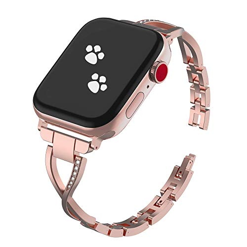 40mm/38mm Watch Band Compatible for Apple Watch Series 3, 2, 1, Samsung S3, Stainless Steel Apple Watch Strap, Adjustable Easily, Crystal Rhinestone Bracelet for iWatch