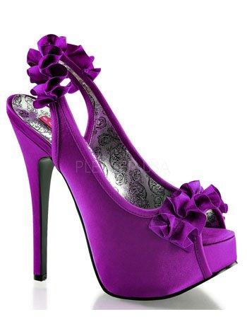 - Pleaser Bordello Women's Teeze 56 Boots,Purple,8 M