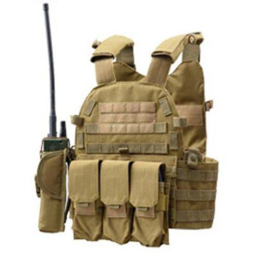 Viktion - Gilet Tactique Armée Airsoft equipement Ajustable Fournitures Police et Les Militaires, engins Tactiques pour… 2