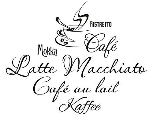 Klebeheld® Wandtattoo Wandtattoo Wandtattoo Kaffee Variationen B012BJSKB8 Wandtattoos & Wandbilder 7a504c
