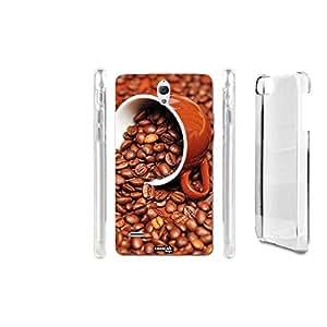 FUNDA CARCASA SEMI CAFFE PARA HUAWEI ASCEND G700