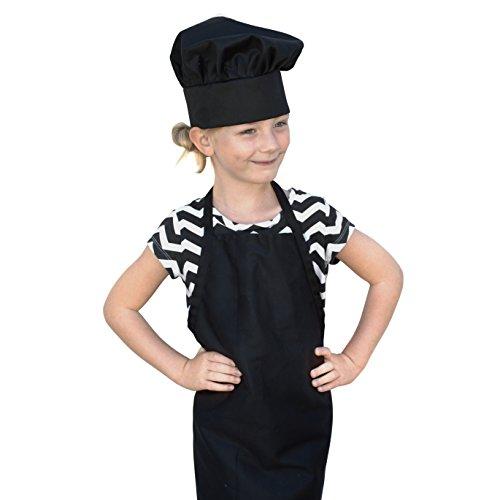 Odelia obviouschef kids child 39 s chef hat apron set kid for Child size kitchen sets