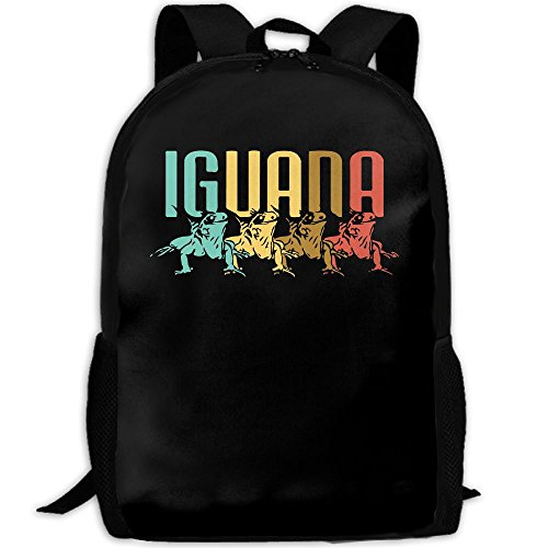 Awesome Vintage Retro IGUANA Interest Print Custom Unique Casual Backpack School Bag Travel Daypack - Iguana Sunglasses