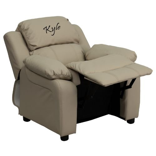 Flash Furniture Personalized Deluxe Kids Recliner by Flash Furniture