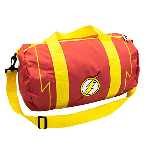 - DC Comics The Flash Logo Zipper Canvas Sports Gym Duffel Shoulder Carry Bag