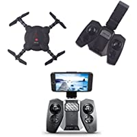 YouCute YC0092T WIFI FPV Pocket Foldable drone with Camera Altitude hold mode RTF (Black with transmitter)