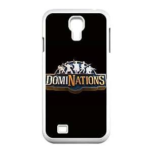 Dominaciones LOGO para funda Samsung Galaxy S4 9500 funda del teléfono celular de cubierta blanca