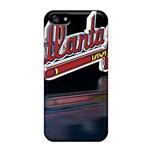 Tpu Case For Iphone 5/5s With Atlanta Braves