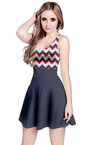 - CowCow Womens Navy 1 Reversible Sleeveless Dress, Navy - L