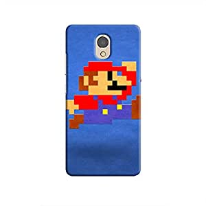 Cover It Up - Mario Pixelated Blue P2 Hard Case