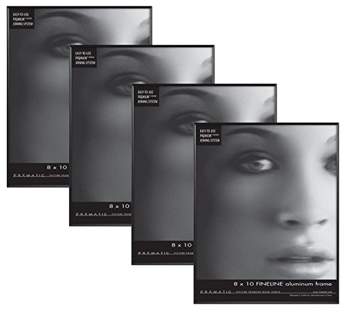 Framatic Fineline 8x10 Inch Aluminum Frame , Black
