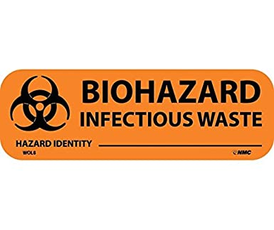 National Marker Corp Wol6 Biohazard Infectious Waste Write On Label