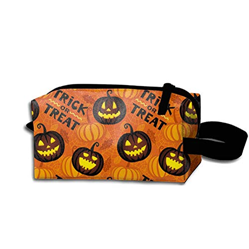 JONHBKD Multi-Functional Small Hand-Held Pencil Bag Coin Purse Storage Travel Cosmetic Bag (Pumpkin Halloween)]()