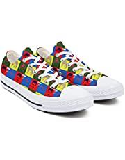 Buoqwe Women's Canvas Shoes Designer Freddie-Mercury-Queen-Hot-Space- Low Top Lace Up Comfortable Sneaker