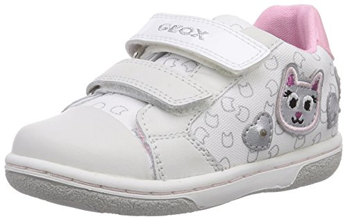 Geox B FLICK GIRL F - zapatillas de running de lona bebé blanco - Weiß (WHITEC1000)