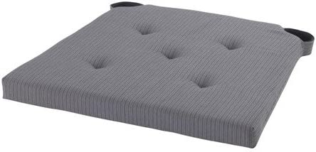 ikea justina coussin de chaise gris 35 42x40x4 0 cm