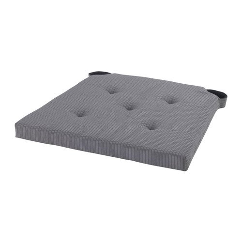 IKEA JUSTINA - cojín para silla, gris - 35/42 x 40 x 4,0 cm ...