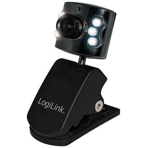 LogiLink Webcam mit 6x LED-Beleuchtung (USB, 300K Sensor, 640x480)