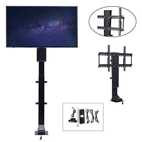 Furniture Lifts Tv Plasma (ECO LLC 32'' to 70'' TV Wall Mount Double Arm/Motorize Height Adjustable up to 1000mm TV Lift Stand Memory Function)