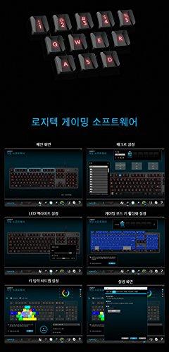 Logitech G413 Backlit Aluminum Mechanical Gaming Keyboard with USB Passthrough -International Version- EN/KR Layout (Silver) by Logitech (Image #8)