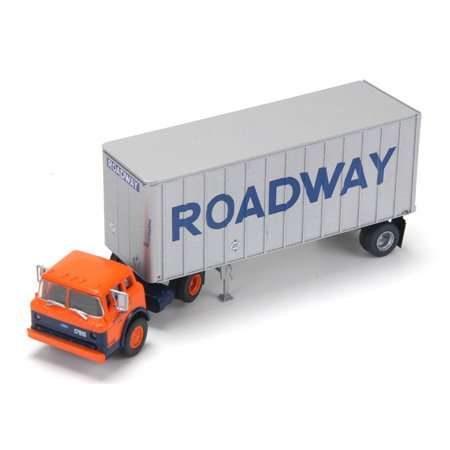 Athearn HO Scale RTR Ford C w/28' Exterior Post Trailer, Roadway ()