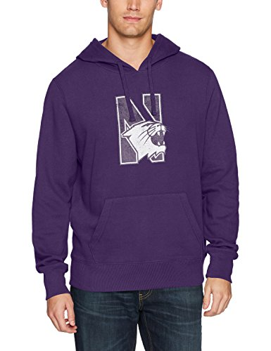 NCAA Northwestern Wildcats Men's Ots Fleece Hoodie Distressed, X-Large, Purple
