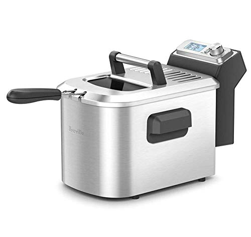 Breville the Smart Fryer 4-Qt 1800-Watt LCD Deep Fryer w/ 7 Cooking Presets &...