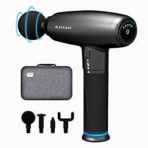 Massage Gun, Deep Tissue Percussion Muscle Massage Gun for Therapy and Relaxation, Powerful Quiet Cordless Handheld Muscle Massager Gun for Athletes Relieving Pain, Soreness and Stiffness(Black)
