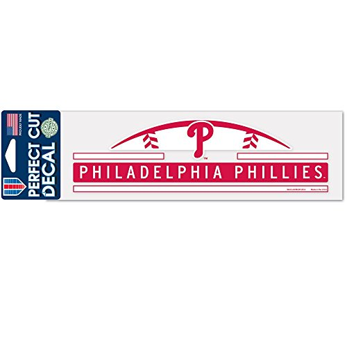 a Phillies Official MLB 3 inch x 10 inch Die Cut Car Decal by 341327 (Phillies Gear)